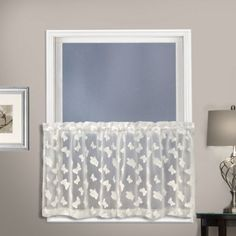 Brighten up your space with the United Curtain Madame Kitchen Window Curtain Tier Pair. Beautifully embroidered butterflies hover on the sheer fabric for a light, airy look that will make any room feel filled with sunshine and warmth. Tier Curtains, Lace Curtains, Hanging Curtains, Valance, Bedroom Curtains, Brown Curtains, Blackout Curtains, Kitchen Window Curtains, Kitchen Curtain Sets