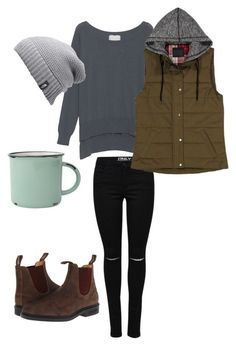 """West Coast Cozy"" by ejohnson12 on Polyvore featuring Blundstone, Friendly Hunting, The North Face and canvas #outdooroutfit"