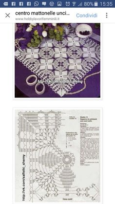 Diy Crafts - This Pin was discovered by May Easter Crochet, Crochet Art, Crochet Home, Thread Crochet, Crochet Stitches, Crochet Motif Patterns, Crochet Diagram, Crochet Squares, Filet Crochet