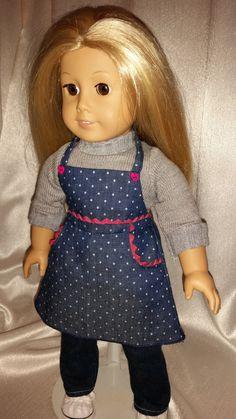 Jumper Smock Apron for 18 in Doll by KatsCornerAttic on Etsy