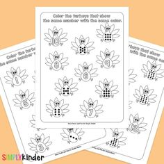 Turkey Counting Learning Printables Teaching Kindergarten, Thanksgiving Activities For Kindergarten, Math For Kids, Teaching Calendar, Math Centers, Early Math, Counting, Turkey, The Turk