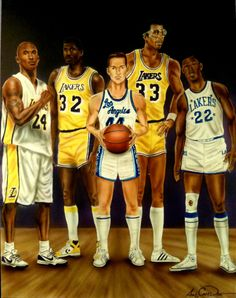 """""""Lakers Greats"""" by August Cameron Davis"""