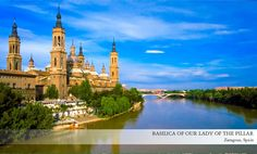 The basilica sits on the banks of the Ebro River and is home to several frescoes by Francisco Goya. During the Spanish Civil War of 1936 – 1939 three bombs were dropped on the basilica but none of them exploded. Two are still on display at the church today. #USAATravel #USAAShopping