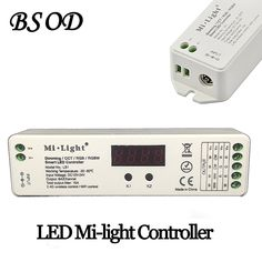 Compare Discount BSOD Milight 4 in 1 LED Smart Controller CCT Dimming RGB RGBW 2.4G and WIFI Wireless Control Input Voltage DC 12/24V #BSOD #Milight #Smart #Controller #Dimming #RGBW #2.4G #WIFI #Wireless #Control #Input #Voltage #12/24V