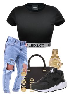"""""""Untitled #399"""" by asaptiana ❤ liked on Polyvore featuring CO, Rolex, Victoria Beckham, Forever 21 and NIKE"""