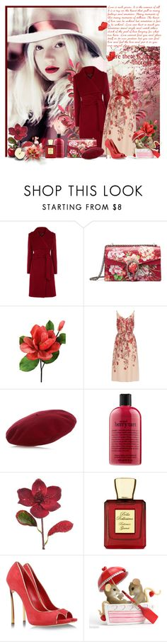 """""""Untitled #2037"""" by tina-teena ❤ liked on Polyvore featuring Gucci, Laura Cole, Adrianna Papell, philosophy, Shabby Chic, Bella Bellissima, Casadei and WALL"""