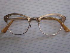 Vintage Cateye Glass Frames 1/10 12K Gold Filled #CatEye #Everyday