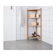 ((maybe in the upstairs hallway?)) RÅGRUND Corner shelf unit  - IKEA
