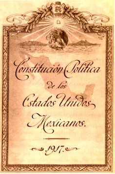 """Se promulgo el 5 de febrero de 1917.  Rompió con los moldes jurídicos. Incluyo principios avanzados de reforma social y en derechos a favor de obreros y campesinos.  En cuanto a """"reformas sociales"""" declaro que la tierra, el agua y otros recursos naturales son propiedad de la Nación y los extranjeros deben tener el consentimiento del Estado."""