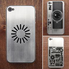 Capinha de metal cheia de estilo da @luxeplates para iPhone 4 e 4S