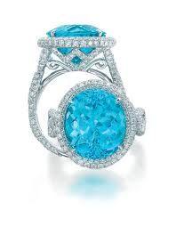 Beautiful blue jbstar engagement ring