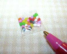 """Lola"" Package of Jelly Beans: DOLLHOUSE Miniatures"