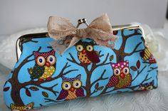 Cute owl flower clutch cottage chic chiffon purse by missvirgouk, $7.99