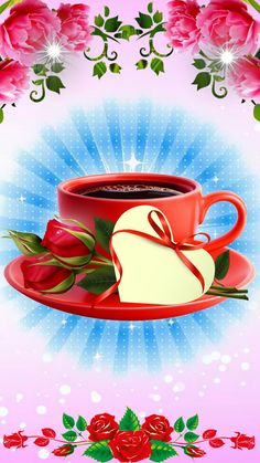 صباح شريف. Coffee Vs Tea, Coffee Gif, Sweet Coffee, Coffee Images, Good Morning Flowers, Good Morning Images, Joelle, Happy Friendship Day, Good Morning Coffee