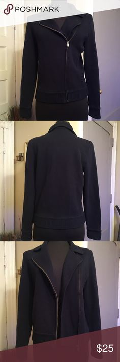 Like new! Talbots sweater jacket dark blue Perfect for business or casual. Nice warm material. Talbots Sweaters