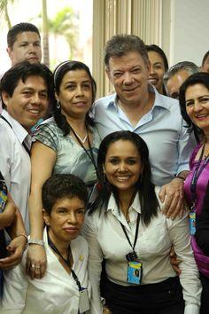 Presidente Juan Manuel Santos con la comunidad.  Crédito Juan David Padilla @Congo Amarillo Mincultura 2013.