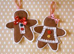 MessyJesse felt gingerbread men