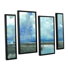 ArtWall 'Meandering Stream' by Norman Wyatt Jr 4 Piece Framed Painting Print on Canvas Set Size: