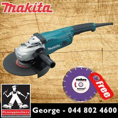 Become the Makita Specialist, with these wonderful deals, such as Makita Angle Grinder GA9020 only R1025 Plus a FREE Diamond Blade! Available from Pennypinchers George #makita #specials #gardenroute