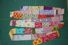 Scrapbusting quilt idea follow this site. It has great Ideas
