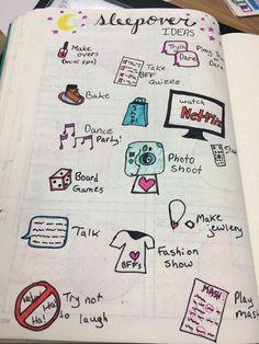 Bullet journal sleepover ideas page😍😴👯♀️ Things To Do At A Sleepover, Fun Sleepover Ideas, Sleepover Activities, Fun Activities To Do, Bullet Journal Ideas Pages, Bullet Journal Inspiration, Bulletin Journal Ideas, Summer Glow, Slumber Parties