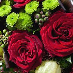Beau+bouquet+rond+dans+les+tons+de+rouge+(livré+sans+le+vase).Osez+le+dire+avec+des+fleurs!