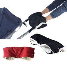ブラック/レッドベビーカー暖かい手袋厚いウールの冬のマスト行くカート不凍液屋外手袋自転車手袋ぬくもり手袋