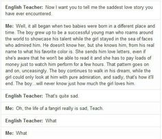 I started to tear up then I got to the end and laughed because that's seriously hilarious!!