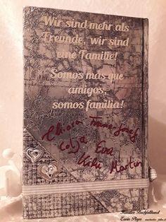 Persönliche Unterschriften auf dem Buchcover mit individuellem Text Handarbeit, Creative