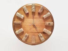 Wine Themed Clock  Cork Clock  Bar Clock  Oak Clock  Wine