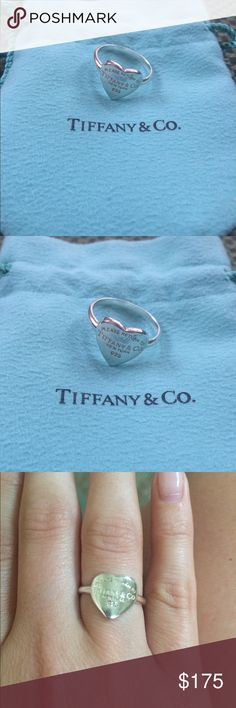 'Please Return to Tiffany & Co' ring Just polished and cleaned! In excellent condition. Comes with authentic Tiffany bag Tiffany & Co. Jewelry Rings
