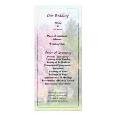 Weeping Cherry and Evergreen Wedding Program by Susan Savad -- Spring wedding program that you can customized yourself.  #wedding  #weddingprogram #weddingprograms #gettingmarried #customize #flower #flowers #cherrytree #cherrytrees #spring #pink  -- XXX wedding program that you can customized yourself.  #wedding  #weddingprogram #weddingprograms #gettingmarried #customize #flower #flowers #spring #cherrytree #floweringtrees #pink   $0.55  per card   BULK PRICING AVAILABLE!
