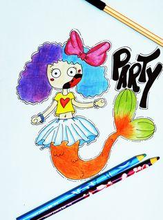 ♥♥♥ #marmeid #desenho #ilustração #draw #sereia #adore #cute