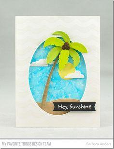 Beach Day Stamp Set, Wave Background, Beach Scene Builder Die-namics, Ocean Waves Die-namics, Blueprints 27 Die-namics, Inside & Out Stitched Oval STAX Die-namics - Barbara Anders  #mftstamps