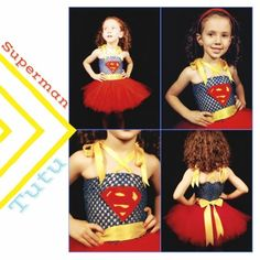 Fluffy Bottom Boutique: Superman Inspired Tutu Dress Costume   http://fluffybottomboutique.blogspot.com/2013/08/superman-inspired-tutu-dress-costume.html