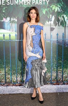 Pin for Later: London's Most Stylish Celebs Hit the Serpentine Summer Party Alexa Chung Wearing Christopher Kane.