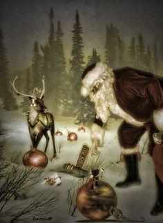 .I love Santa and the reindeer!!