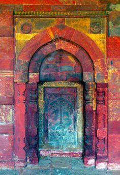 Multi colored door in Casablanca, Morocco.