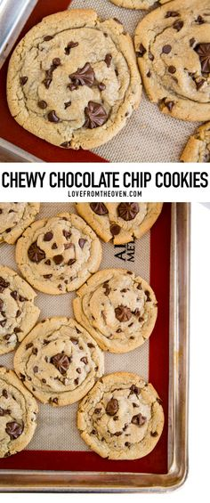 The perfect recipe for chewy chocolate chip cookies packed full of chocolate