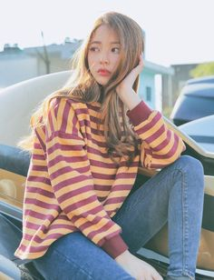pιnтereѕт >> nadynnn❁ Korean Girl Fashion, Ulzzang Fashion, Ulzzang Girl, Japanese Fashion, Asian Fashion, Girl Outfits, Fashion Outfits, Womens Fashion, Bora Lim