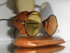 Goggles VTG Steampunk Matsuda Motorcycle Antique safety sun glasses w shields | eBay