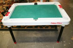the fisher price pool table Pool Table, 90s Kids, Fisher Price, Fun Games, 1980s, Family Room, Projects To Try, Garage, Cottage