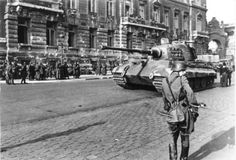 Tank photo. King Tiger tank of the schwere Panzer Abteilung 503. Tank number 234 Budapest Hungary 1944