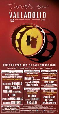 Feria Taurina de Valladolid en Honor a Nuestra Señora de San Lorenzo  Venta de Abonos #Valladolid16 de #Julio26 a #Agosto27  Taquillas 👉 10h. a 14h. y 18h. a 21h. #Septiembre2016 #ValladolidEsTaurina #TienesQueVenir #FeriaTaurina #NuestraSeñoraDeSanLorenzo