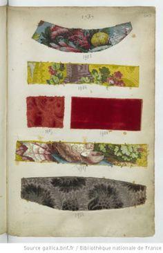 * 1737 Brocarts, Velours - Echantillons d'étoffes et de rubans recueillis par le Maréchal de Richelieu