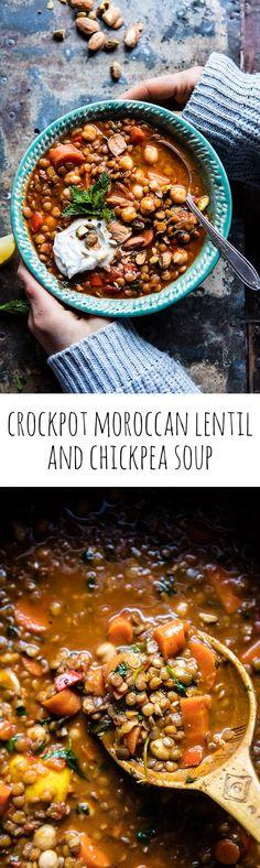 Crockpot Moroccan Lentil and Chickpea Soup | http://halfbakedharvest.com /hbharvest/