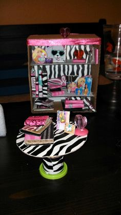 DIY doll table...bookcase doll house