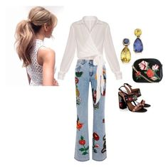 """""""Untitled #2"""" by glorminaasprecavena on Polyvore featuring Gucci, Tabitha Simmons and New Look Tabitha Simmons, New Look, Harem Pants, Gucci, Polyvore, Fashion, Moda, Harem Trousers, Fashion Styles"""