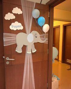 Baby Shower Deco, Baby Shower Balloons, Baby Boy Shower, Baby Shower Gifts, Welcome Home Decorations, Baby Boy Decorations, Cute Backgrounds For Phones, Baby Door Hangers, Welcome Baby Boys