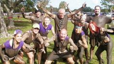 Me and some of my friends and family after completing the 2011 Warrior Dash at Quiet Waters Park in Deerfield Beach, FL. Warrior Dash was a 5k adventure run with 11 obstacles including a fire pit and the infamous mud pit at the very end.